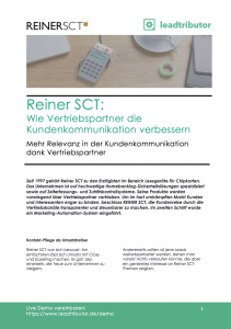 Success Story Reiner SCT