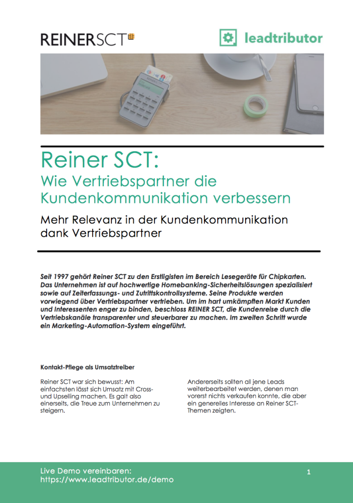 Success Story Reiner SCT