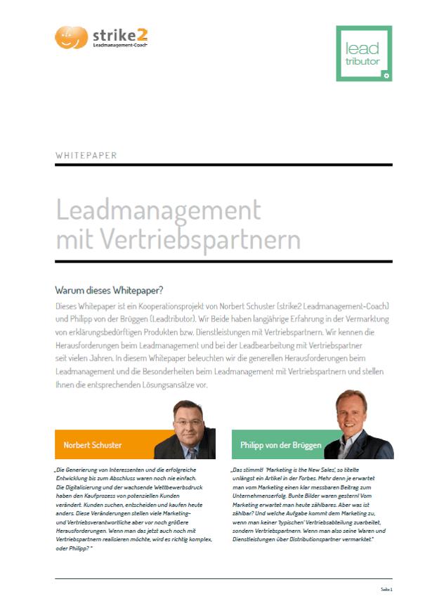 Lead Management mit Vertriebspartner Whitepaper