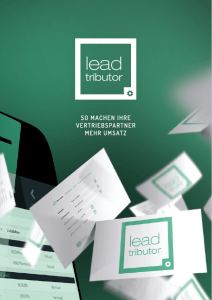 Lead Management Broschüre